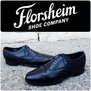 Florsheim | Black Leather Wingtip Oxfords